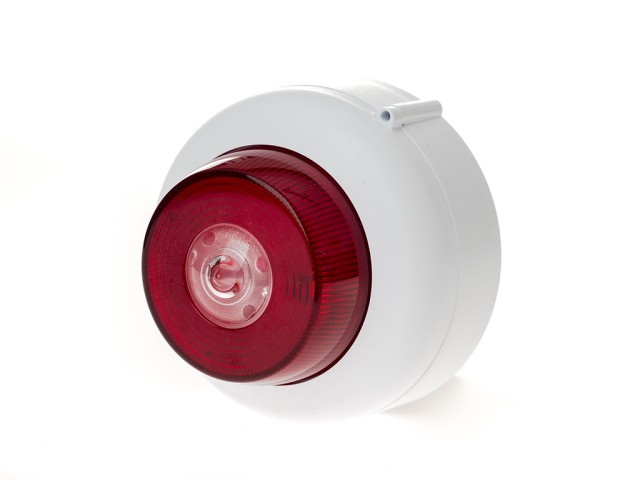 Ceiling Mounted Beacon, White, Shallow Base