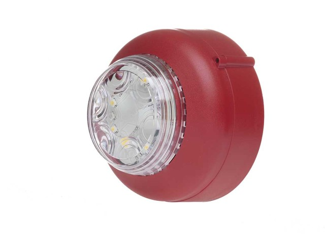VXB LED Beacon Shallow Red Body Clear Lens