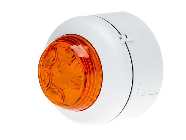 VXB LED Beacon Deep White Body Amber Lens